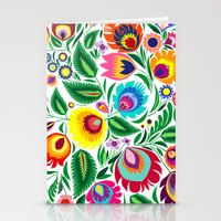 folk grassland Stationery Cards