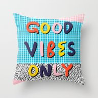 Check It - Good Vibes Ha… Throw Pillow