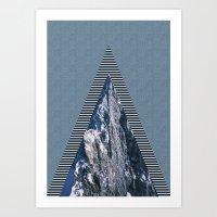 Peaks Art Print