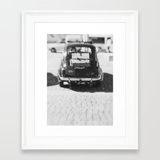 fiat 500 car - his Framed Art Print