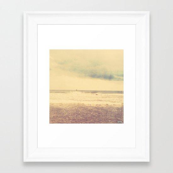 The Return Home. Framed Art Print
