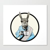 Java Llama Canvas Print