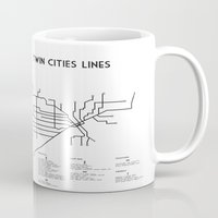 Twin Cities Lines Map Mug