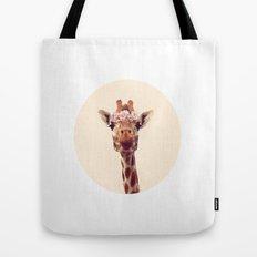 Flower crown giraffe Tote Bag