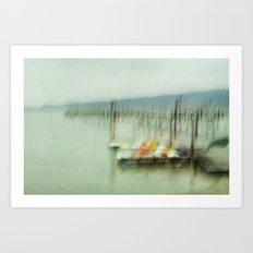 Lake Impressions Art Print