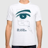 BLADE RUNNER (White - Voight Kampf Test Version) Mens Fitted Tee Ash Grey SMALL