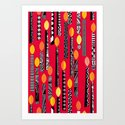 Flaming Red Art Print