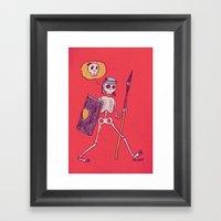 Skelie Framed Art Print