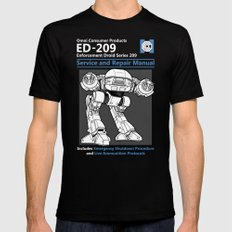 ED-209 Service and Repair Manual Black Mens Fitted Tee SMALL