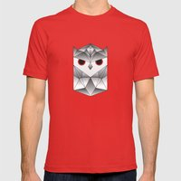 Owl. Mens Fitted Tee Red SMALL