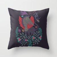 Dragon and Lizards Throw Pillow
