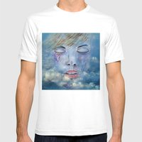 Welcome In Heaven Mens Fitted Tee White SMALL