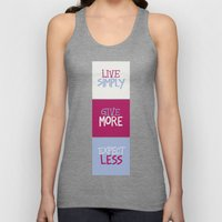 Live Simply, Give More, Expect Less Unisex Tank Top