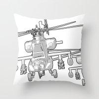 Apache's Flying Toon Ren… Throw Pillow