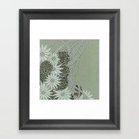 Flowerlines Framed Art Print