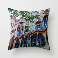 Casa Batllo: Barcelona, … Throw Pillow