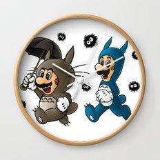 Super Totoro Bros. Wall Clock
