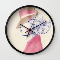 A Touch of Pink Wall Clock
