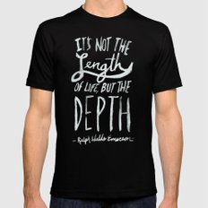 Depth Mens Fitted Tee Black SMALL