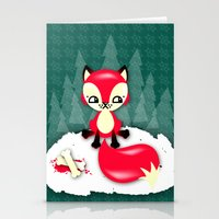 Fox's Christmas Dinner Stationery Cards