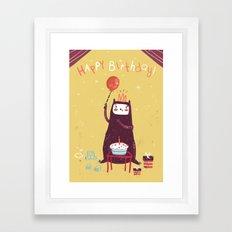 Happy birthday purple monster! Framed Art Print