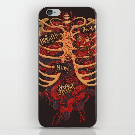 Anatomical Study - Day of the Dead Style iPhone & iPod Skin