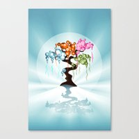 The Four Seasons Bubble Tree Canvas Print