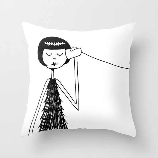 Eloise and Ramona play telephone - Part 1 Throw Pillow