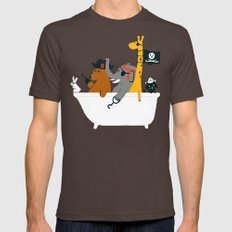 Everybody wants to be the pirate Mens Fitted Tee Brown SMALL