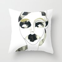 a bystander Throw Pillow
