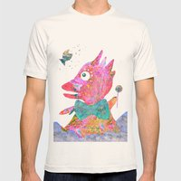 Fish's Whisper  Mens Fitted Tee Natural SMALL
