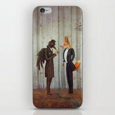 Raven And Fox In  A Dark… iPhone & iPod Skin