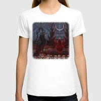 Twilight Garden  Womens Fitted Tee White SMALL