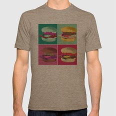 Pop Art Burger #2 Mens Fitted Tee Tri-Coffee SMALL