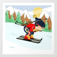 Winter Sports: Biathlon Art Print