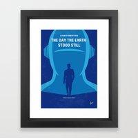 No514 My The Day the Earth Stood Still minimal movie poster Framed Art Print