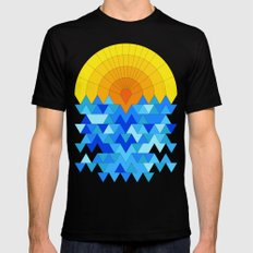 Sun & Sea Mens Fitted Tee Black SMALL