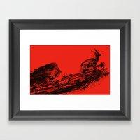 Intense Chasing II Framed Art Print
