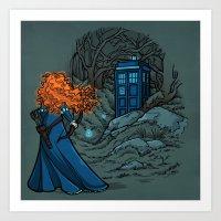 Art Print featuring Follow Your fate by Karen Hallion Illustrations