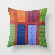 Large Rectangle Fields B… Throw Pillow
