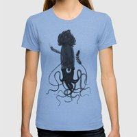 Beer Squid Womens Fitted Tee Athletic Blue SMALL