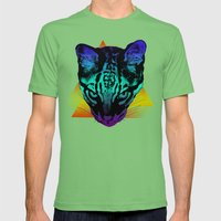 Rad Ocelot Mens Fitted Tee Grass SMALL