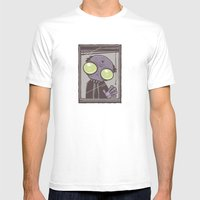 Office Zombie Mens Fitted Tee White SMALL
