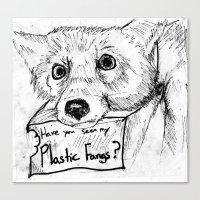 Plastic Fangs Collective Canvas Print