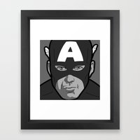 The secret life of heroes - Photobooth2-1 Framed Art Print