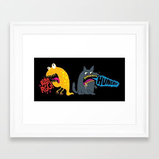 Hungry! Blarrgh! Framed Art Print