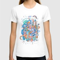 George's place Womens Fitted Tee White SMALL