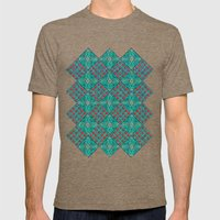 Cottage Garden Pattern Mens Fitted Tee Tri-Coffee SMALL