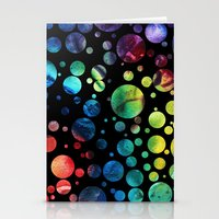 Abstract Polka Dots Digi… Stationery Cards