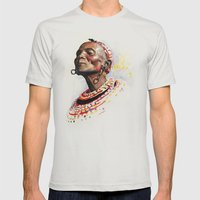 KENYA  Mens Fitted Tee Silver SMALL